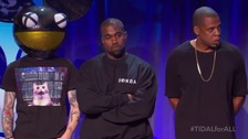 Deadmau5, Kanye West and Jay-Z at the tidal launch