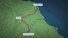 This report moves from Eyemouth to Duns, and then Coldstream.
