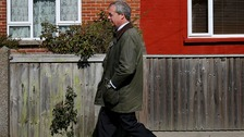 Ukip Leader Nigel Farage during canvassing in Sandwich, Kent, as he continues his campaign trail for the South Thanet seat