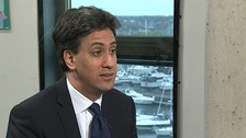 Labour leader Ed Miliband talks to ITV News Anglia's Emma Hutchinson.
