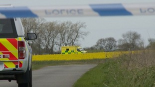 The crash scene at Old Buckenham.