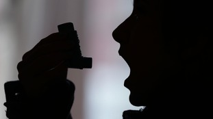 Inhaler being used