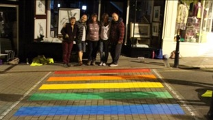 The plans would make Totnes the first place in Europe to have a permanent rainbow crossing.