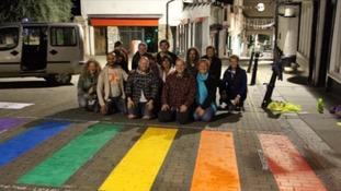 Cities across Europe have had temporary rainbow crossings.