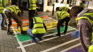 Totnes had a temporary rainbow crossing last year during its Pride celebrations.