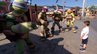 Boy with 'ninja turtles'