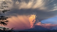 Flights cancelled due to volcanic eruption.