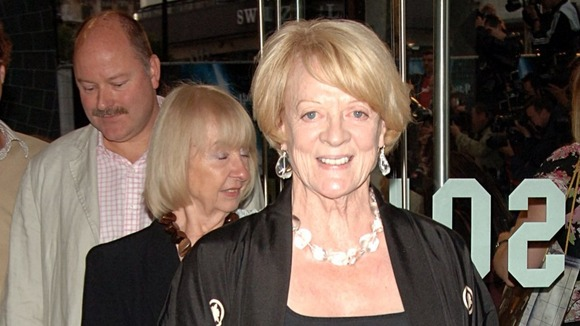 Maggie Smith plays the grand Dowager Countess of Grantham in Downton Abbey.