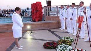 Cunard's Queen Elizabeth holds special memorial service as ship sails the Gallipoli Peninsula