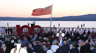 Cunard's Queen Elizabeth holds special memorial service as ship sails the Gallipoli Peninsula