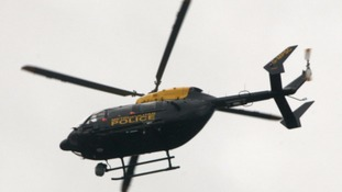 A police helicopter over London