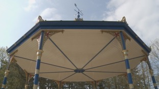 The bandstand has been finished.