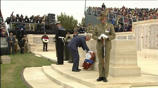 Prince Charles in Gallipoli