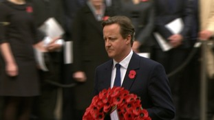 David Cameron at the Cenotaph today