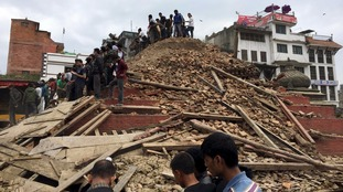 Hundreds dead after huge earthquake hits Nepal