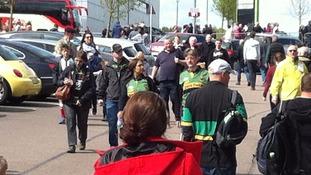 Fans arrive at Stadium MK