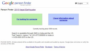 Google's Person Finder
