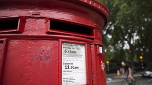 A Royal Mail post box is seen in central London July 11, 2014