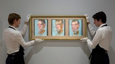 Handlers with Three Studies for a Self-Portrait (1980) by Francis Bacon