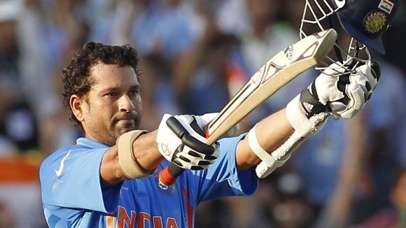 India batsman Sachin Tendulkar has hit his 100th international century