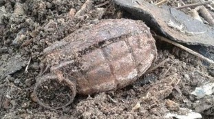 Grenade found in back garden in Cirencester