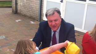 Shadow Chancellor of the Exchequer Ed Balls at the Carlisle South Sure Start Centre