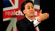 Miliband giving a speech