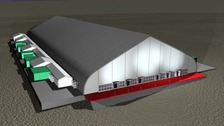 An artists impression of the proposed arena.