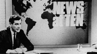 Sir Alastair Burnet in the early days of 'News At Ten'