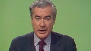 Sir Alastair Burnet presenting News At Ten