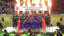 Chelsea lift the trophy