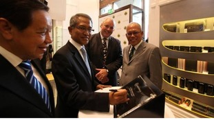 DRB-HiCOM executives at the new London store