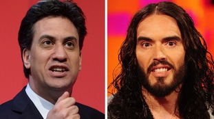Ed Miliband and Russell Brand