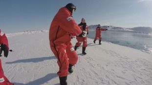 Rugby practice in the Arctic