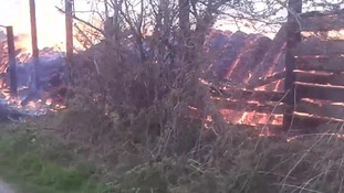 The fire at Risehow Industrial Estate