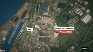 Map of where the crash happened