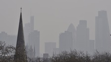 A pall of pollution over the City of London