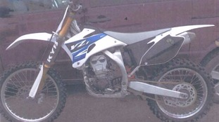 Officers are trying to locate a stolen motorcycle