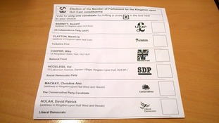 Names of candidates missing from Hull postal ballot paper