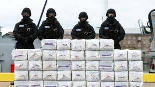 The Irish Navy confiscated a tonne of cocaine onboard.