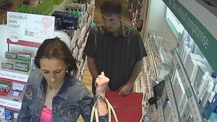 Police are trying to identify two suspects following a shoplifting incident