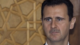President Assad pictured in 2010