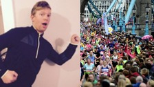 James Sims ran 21 miles of the London Marathon with a broken hip