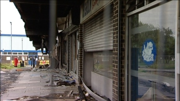 A row of shops in Eaglescliffe were destroyed