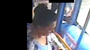 Woman police want in connection with theft of cash from a bus