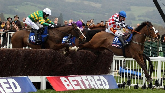 Synchronised wins the Cheltenham Gold Cup 