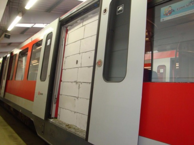 The S-Bahn train passed through the entire city before the wall was reported & Subway train evacuated after vandals brick up doorway - ITV News Pezcame.Com