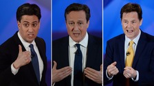 David Cameron 'did the best on the night', according to the poll.