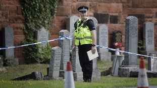 A police officer at the scene where the baby was found
