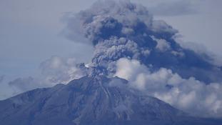 An eruption at Calbuco volcano